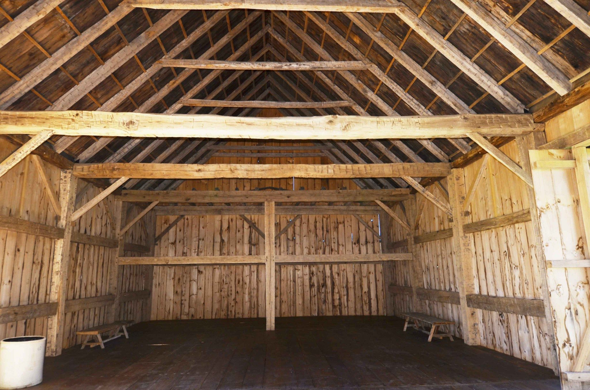Scottish Barn interior, 2015, Photograph by Constance Kheel
