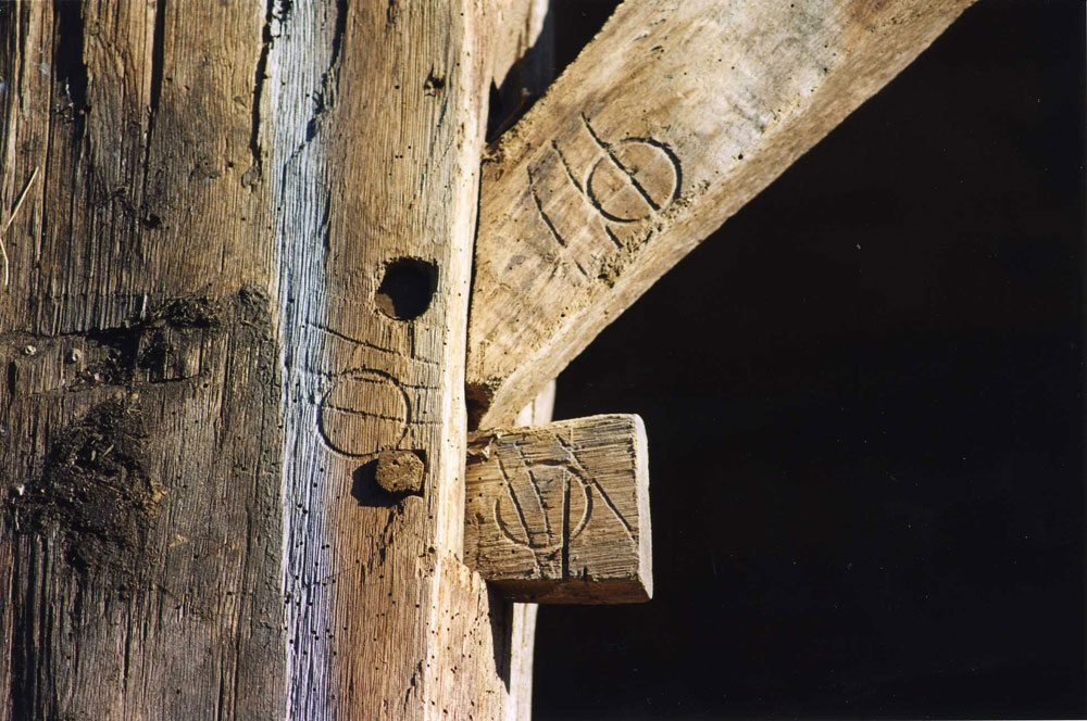 Scottish Barn markings, 2000, Photograph by Constance Kheel
