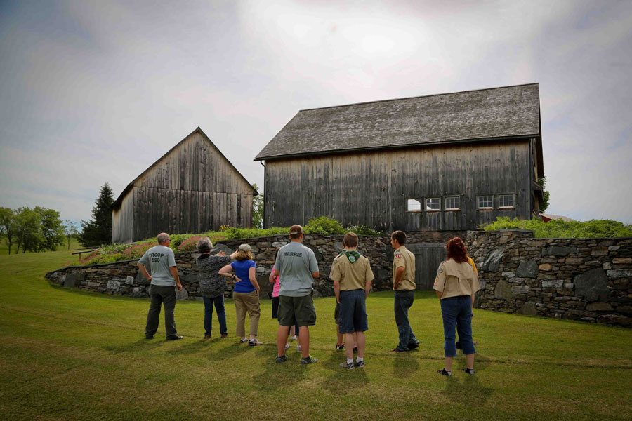 Boy Scout troop tours Historic Barns of Nipmoose, T.W. Collins Photography