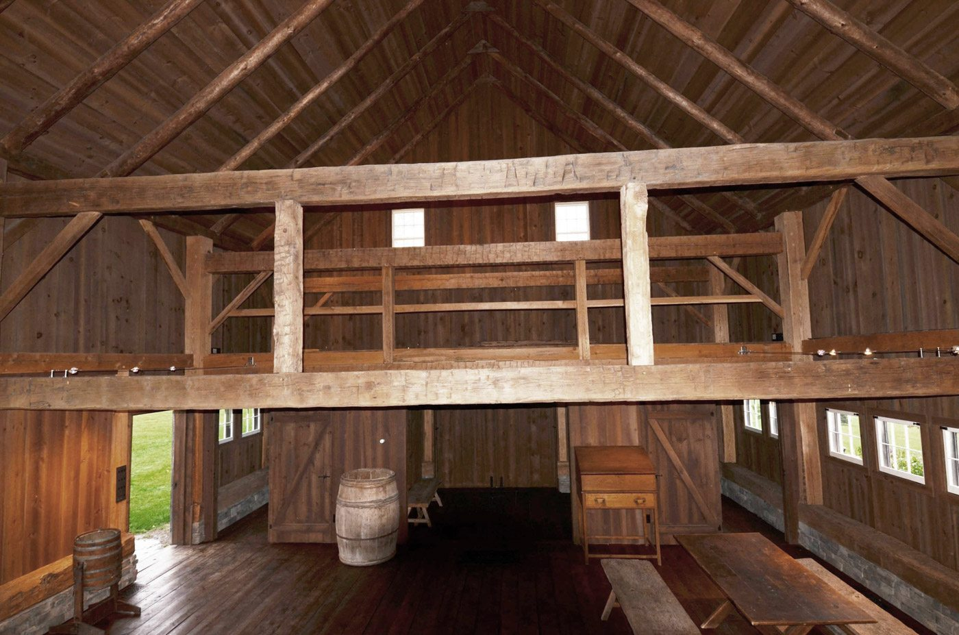 Historic Hay Barn With Red Oak Timber Frame