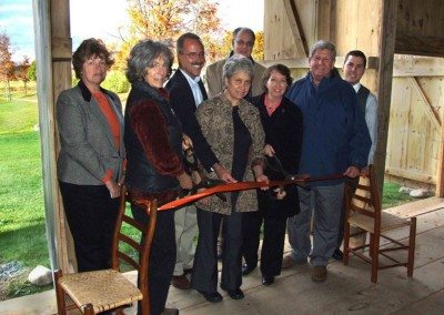 Ribbon Cutting Ceremony, October 7, 2010, From left, Barbara Squires, Event Manager The Persistence Foundation; Constance Kheel, President, The Persistence Foundation; Assemblyman Tony Jordan; Teri Ptacek, Executive Director, Agricultural Stewardship Association; David Sampson, Associate Counsel, Department of Environmental Conservation; Rensselaer County Executive Kathy Jimino; Senator Roy McDonald; Ryan Silva, Director of Business Development, Rensselaer County Chamber of Commerce Photo courtesy Rensselaer County Chamber of Commerce