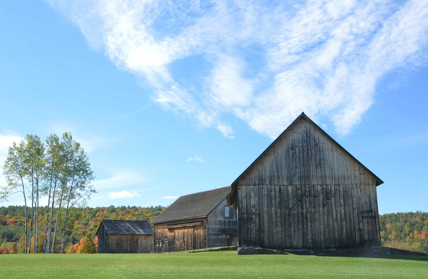 Fully restored barns at Nipmoose Farm, 2015, Photograph by Constance Kheel