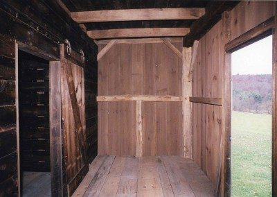 Corn Crib interior, Photograph by Constance Kheel