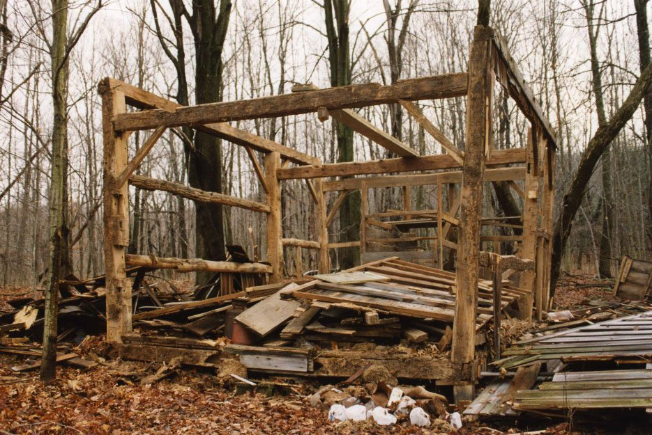Corn Crib frame, 2001, Photograph by Constance Kheel