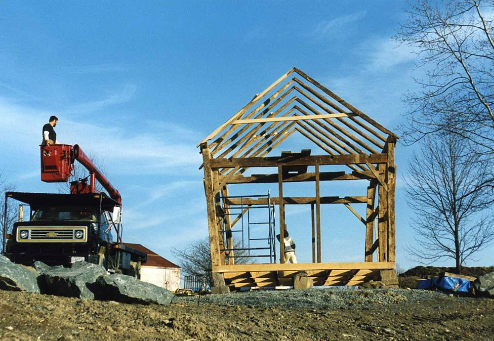 Corn Crib frame, 2002, Photograph by Constance Kheel