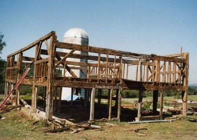 German Barn frame before restoration, 2000, Photograph by Constance Kheel