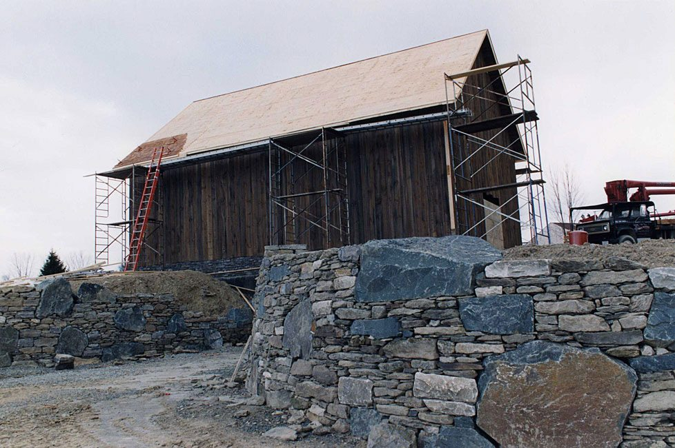 German Barn stone wall, 2002, Photograph by Constance Kheel