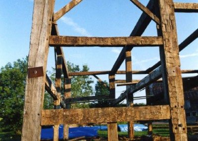 Scottish Barn frame before restoration, 2000, Photograph Constance Kheel