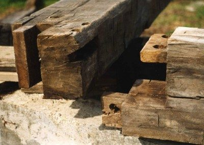 Detail of Scottish Barn joinery, 2000, Photograph by Constance Kheel