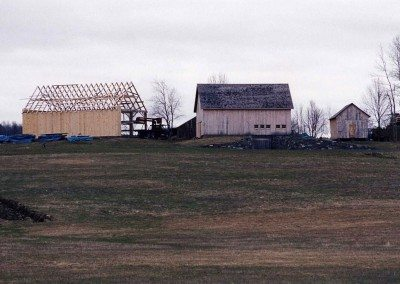 Historic Barns of Nipmoose during restoration, 2004, Photograph by Constance Kheel