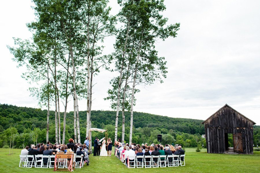 Wedding ceremony by the aspen grove, Tracey Buyce Photography