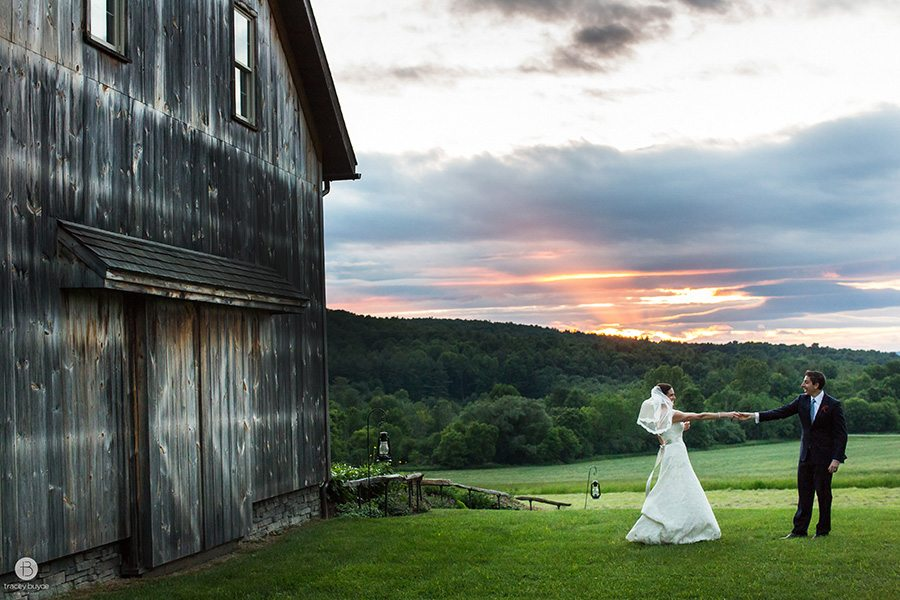 Wedding portrait at sunset, Tracey Buyce Photography