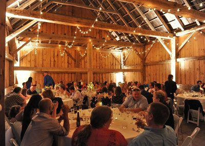 The Scottish Barn can seat up to 180 guests