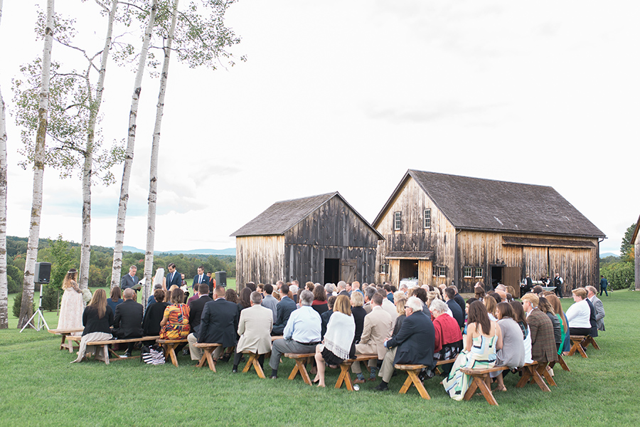 Wedding ceremony by the aspen grove, Chelsea Proulx Photography