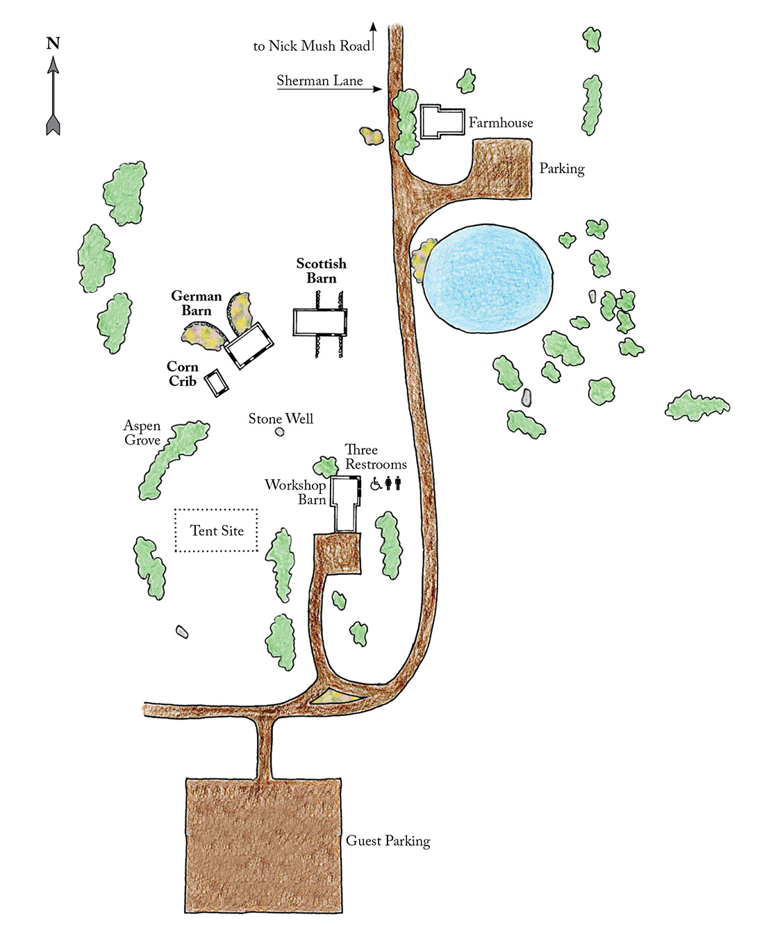 Historic Barns of Nipmoose Site Map of the Grounds